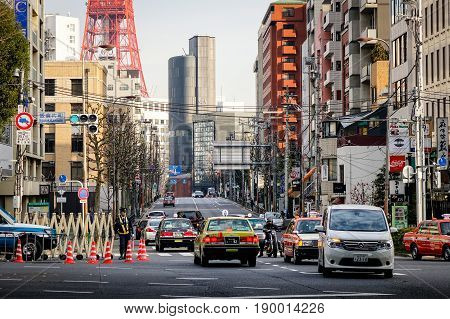 Traffic On Street In Tokyo, Japan
