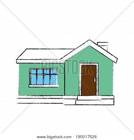 House architecture building icon vector illustration graphic design