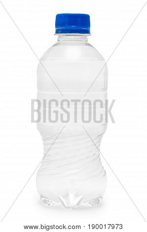 Clean And Fresh Water Packed In A Plastic Bottle. Isolated On White Background