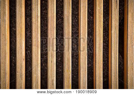 Background. Texture Of Light Brown Boards From The Bench To The Whole Frame. Horizontal Frame