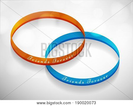 illustration of rings on occasion of friends forever