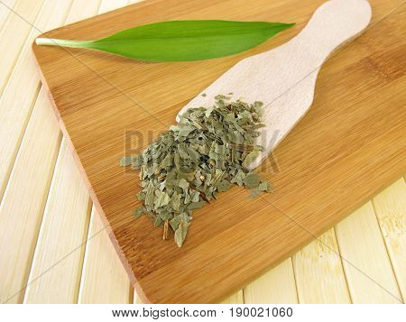 Ramsons leaves, Allii ursini herba, for herbal medicine