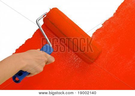 Wall painting - Red