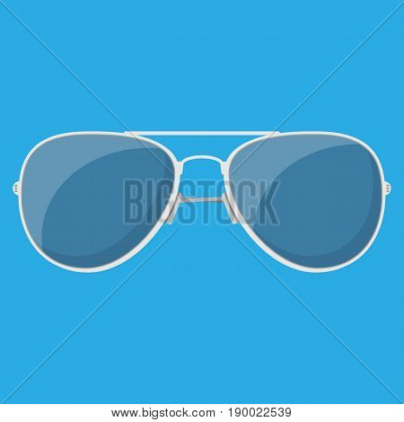 Aviator sunglasses. Protective eyewear. Vector illustration in flat style