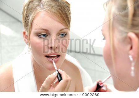 A Girl preparing for a wedding