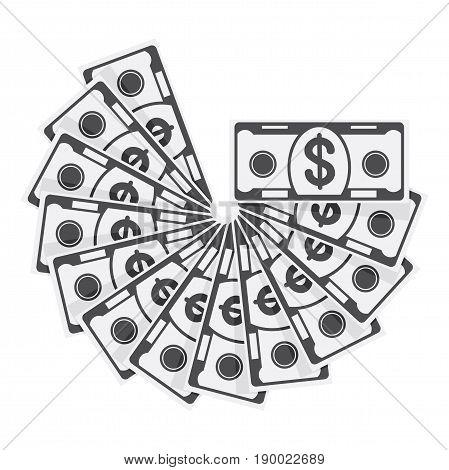 Monochrome Spread Of Cash