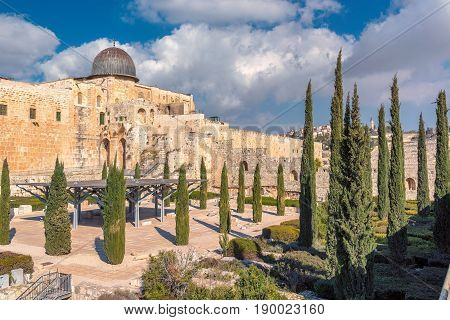 A view of Temple Mount and Al-Aqsa Mosque in the old city of Jerusalem