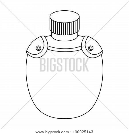 Jar with water in the case.African safari single icon in outline style vector symbol stock illustration .