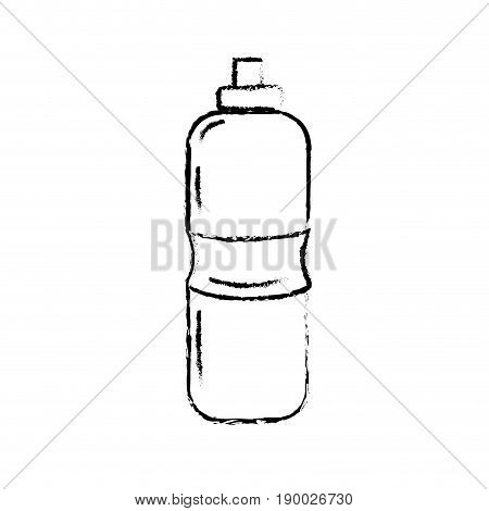 figure bottle of water to reshness in the gym vector illustration