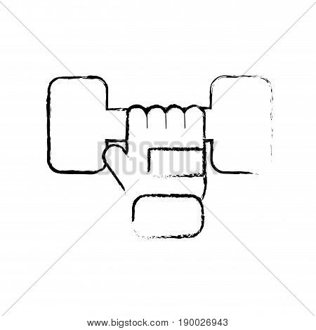 figure dumbel with glove to do exercise vector illustration