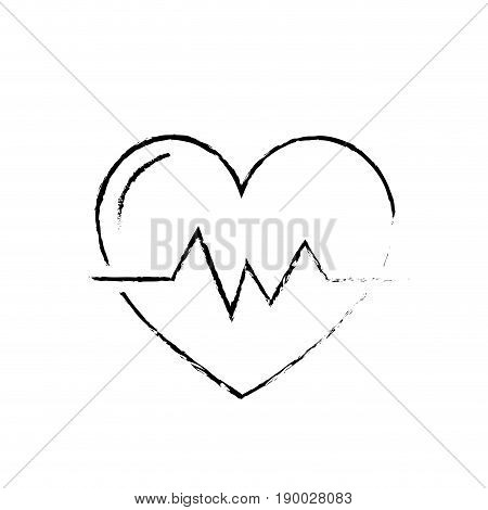 figure heartbeat to know rhythm cardic and frequency vector illustration