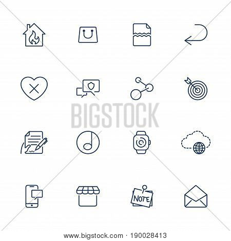 Simple Icons For App, Programs And Sites. Set With Different Ui Icons