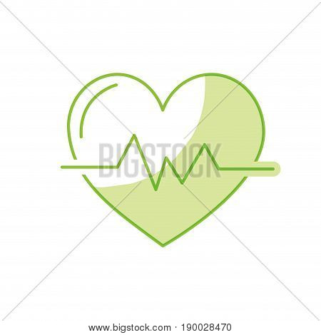 silhouette heartbeat to know rhythm cardic and frequency vector illustration