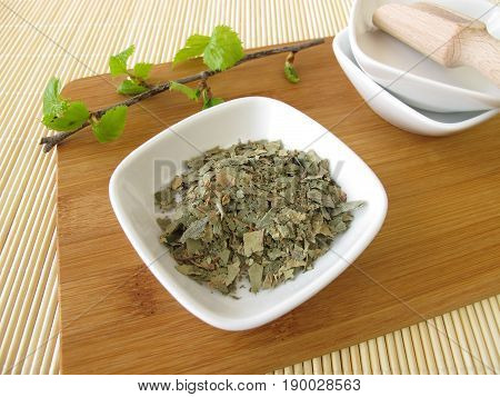 Silver Birch leaves, Betulae folium, for herbal medicine