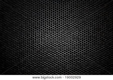 Concepto de nido de abeja - rayo central