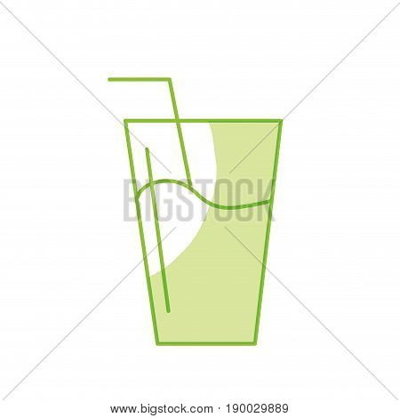 silhouette water glass to freshness and healthylife vector illustration