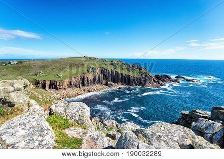 Porth Loe On The Cornish Coast