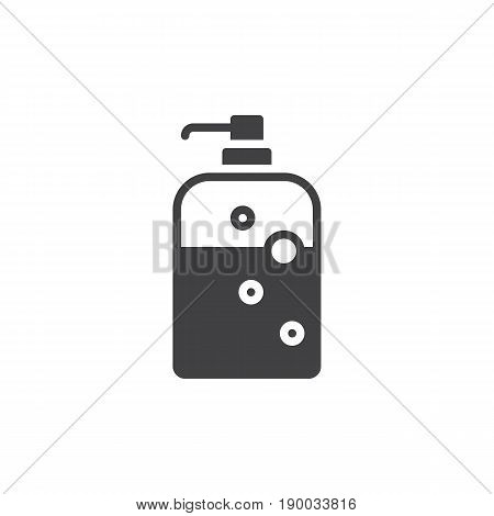 Soap dispenser bottle icon vector filled flat sign solid pictogram isolated on white. Symbol logo illustration. Pixel perfect