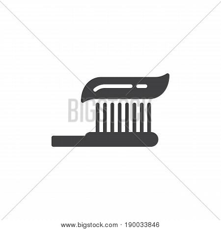 Toothbrush icon vector filled flat sign solid pictogram isolated on white. Symbol logo illustration. Pixel perfect