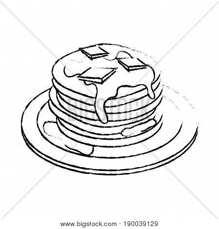 Delicious pancakes breakfast icon vector illustration graphic design
