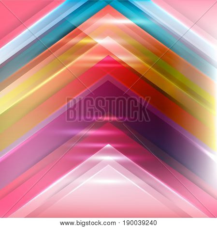 Abstract rainbow background consisting of colored lines is a fresh and interesting solution for your design and marketing