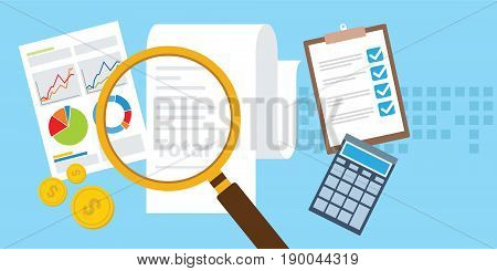 pay bill and learn how to manage financial efficiency vector illustration