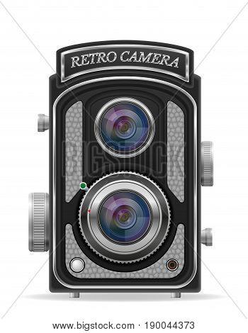 camera photo old retro vintage icon stock vector illustration isolated on white background