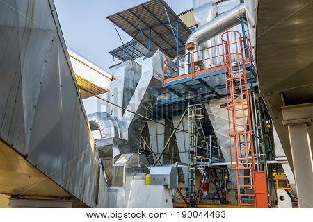 Fumes installation - coal power station Poland Europe.