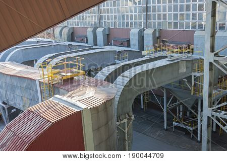 Fumes channel - coal power station Poland.