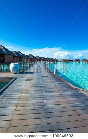Beautiful tropical Maldives island with beach