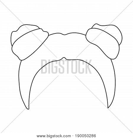 Red with two bobbins.Back hairstyle single icon in outline style vector symbol stock illustration .