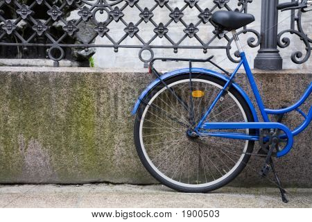 Blue Bicycle In Denmark