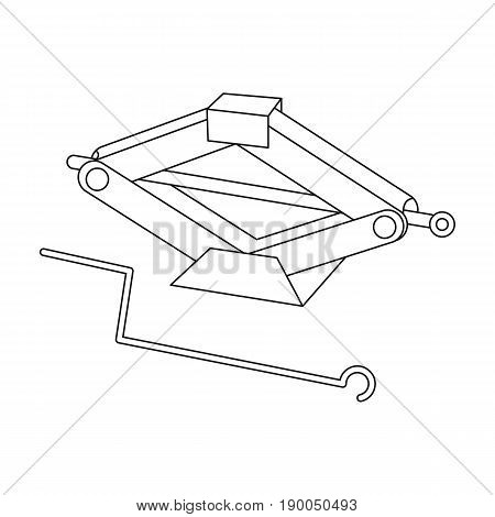 Mechanical Jack.Car single icon in outline style vector symbol stock illustration .