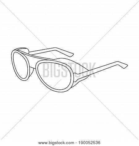Protective glasses.Mountaineering single icon in outline style vector symbol stock illustration .