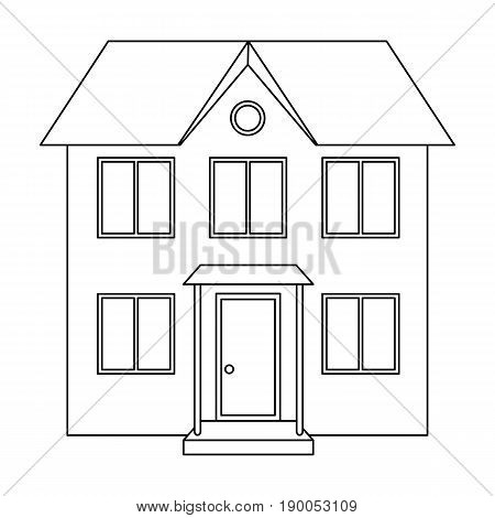 Private cottage.Realtor single icon in outline style vector symbol stock illustration .