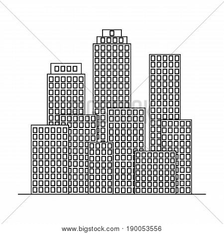 Metropolis.Realtor single icon in outline style vector symbol stock illustration .