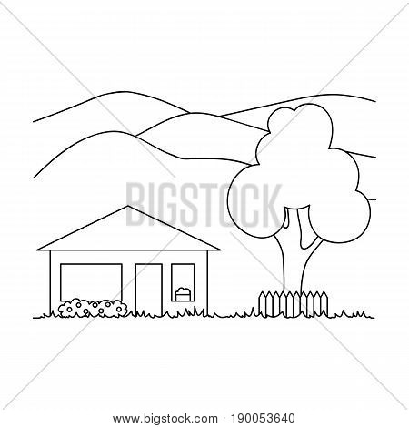 Vacation home.Realtor single icon in outline style vector symbol stock illustration .
