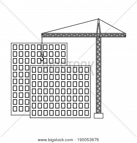 Construction of houses, real estate.Realtor single icon in outline style vector symbol stock illustration .