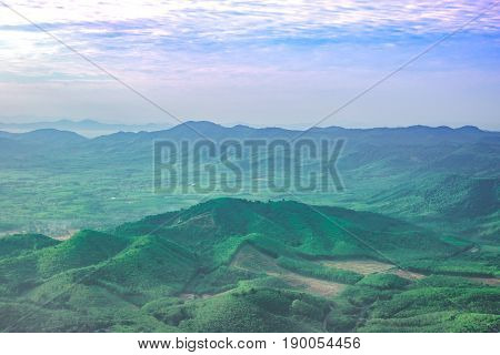 green moutain natural beautiful summer in asia
