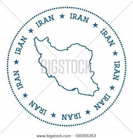 Iran, Islamic Republic Of Vector Map Sticker. Hipster And Retro Style Badge With Iran, Islamic Repub
