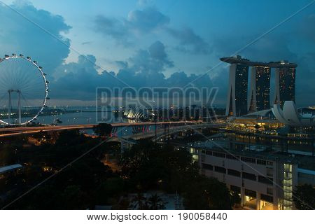 View Of Singapore Cityscape