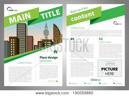 Vector Flyer, Corporate Business, Annual Report, Brochure Design And Cover Presentation With Big Rib