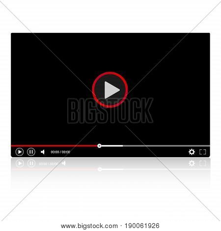 Glossy video player frame Modern video player for web site. Video player for web site