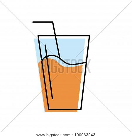 refreshment glass to freshness and healthylife vector illustration