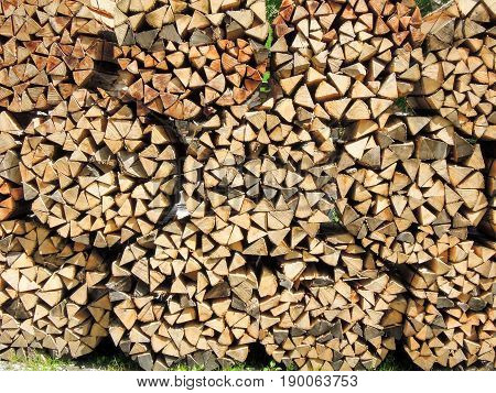 Multitude Of Wood Pieces