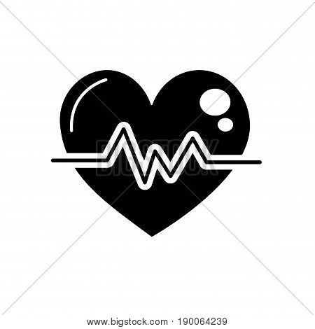 contour heartbeat to know rhythm cardic and frequency vector illustration