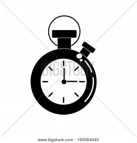 contour chronometer to know and meter the time vector illustration
