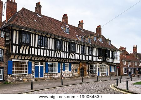 YORK, NORTH YORKSHIRE/ UNITED KINGDOM - MARCH 6, 2017: St William's College on the College Street near the York Minster, UK