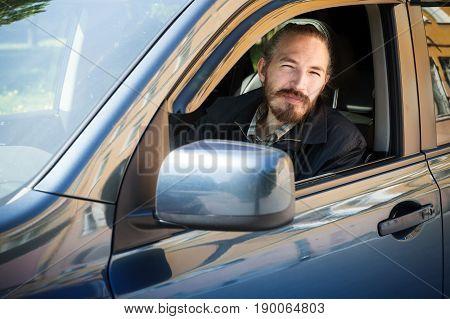 Bearded Serious Asian Man, Driver