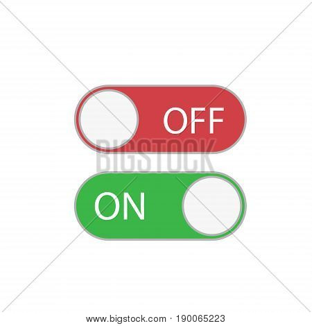 Shut down button set vector illustration on white background